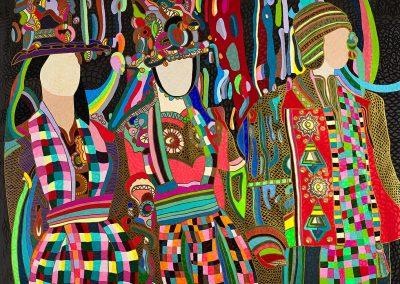 Aguayo Ornamental (2013). 150 x 200 cm. Acrílico sobre tela.